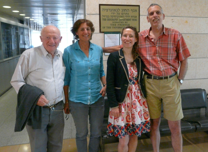Ágnes Erőss, junior research fellow with colleagues at the Haifa University